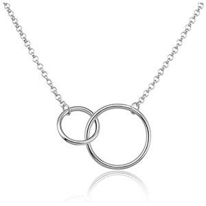 Jewelry - Double Circle Sterling Silver Pendant Necklace